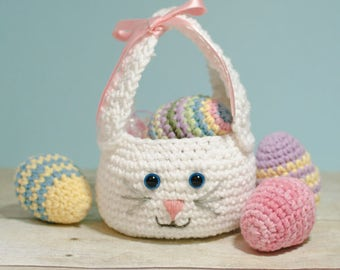 Easter Bunny Basket Crochet Pattern