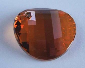 1 Swarovski 6621 TWIST Crystal Pendant Bead 28mm COPPER
