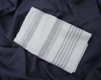 Natural Linen Pure Flax  Body Pillowcase, Pillow Cover, Lumbar Support, Pregnancy Sleep Pillow Case.  Stripes, Zipper closure.  Size options
