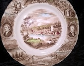 Oregon State Plate by Johnson Bros. England