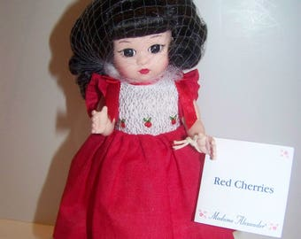 Asian Red Cherries Madame Alexander 8 in doll