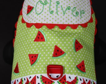SAMPLE SALE:  Red Watermelons Dog Harness