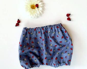 Ladybug Bloomer, Girls Bloomer,  Baby Girl Bloomer, Toddler Bloomer, Bloomers, Ladybugs