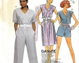 Easy McCall's 3156 Misses Dress And Jumpsuit Sewing Pattern, 20-22-24,  UNCUT
