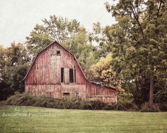 Red Barn Wall Decor : Red barn photo wall art farmhouse decor rustic