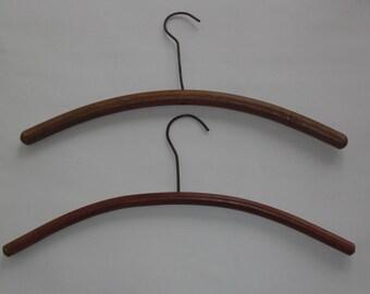 2 Vintage Round Wood Hangers