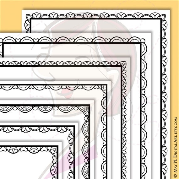page borders vector jpg png files lace document frames clipart 8x11 award certificate template diploma frame diy wedding invitations from