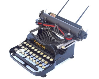 VERY EARLY Corona No.3 Folding Typewriter