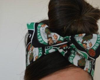 Boston Celtics, headband, Dolly bow head bands, head band, hair bow