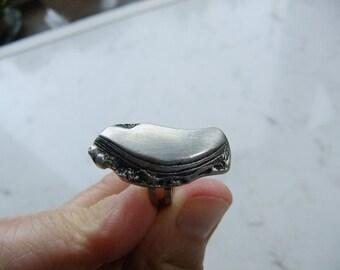 Vintage  Swedish Modern art ring in pewter - Rune Ottosson design