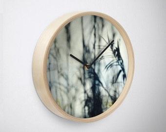 Slim Shady, wall clock, photography clock, shadows clock, grass clock, weed clock, abstract photography, navy, black, yellow, Lesvos, Greece