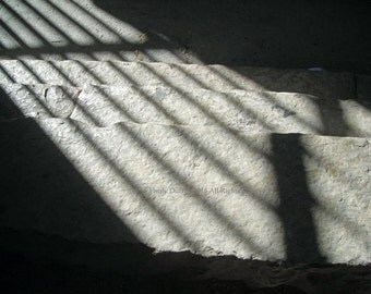 Original Photograph (Matted): Shadows on Stone Steps