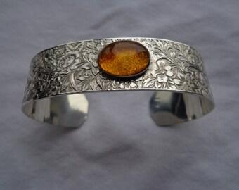 Sterling silver .925 cuff bracelet.