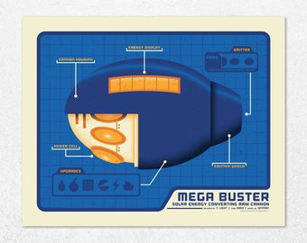 Mega Buster | 16x20 | Screen Print