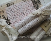 French Script Candles ~ Decoupage Box ~ French Candles ~  Set of Ten ~ Gift Boxed Candles