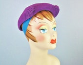 Purple Pancake Hat / Vtg ...