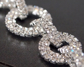 Rhinestone Trim - Rhinestone Chain - Rhinestone Trimming - Interlocking - By the Foot