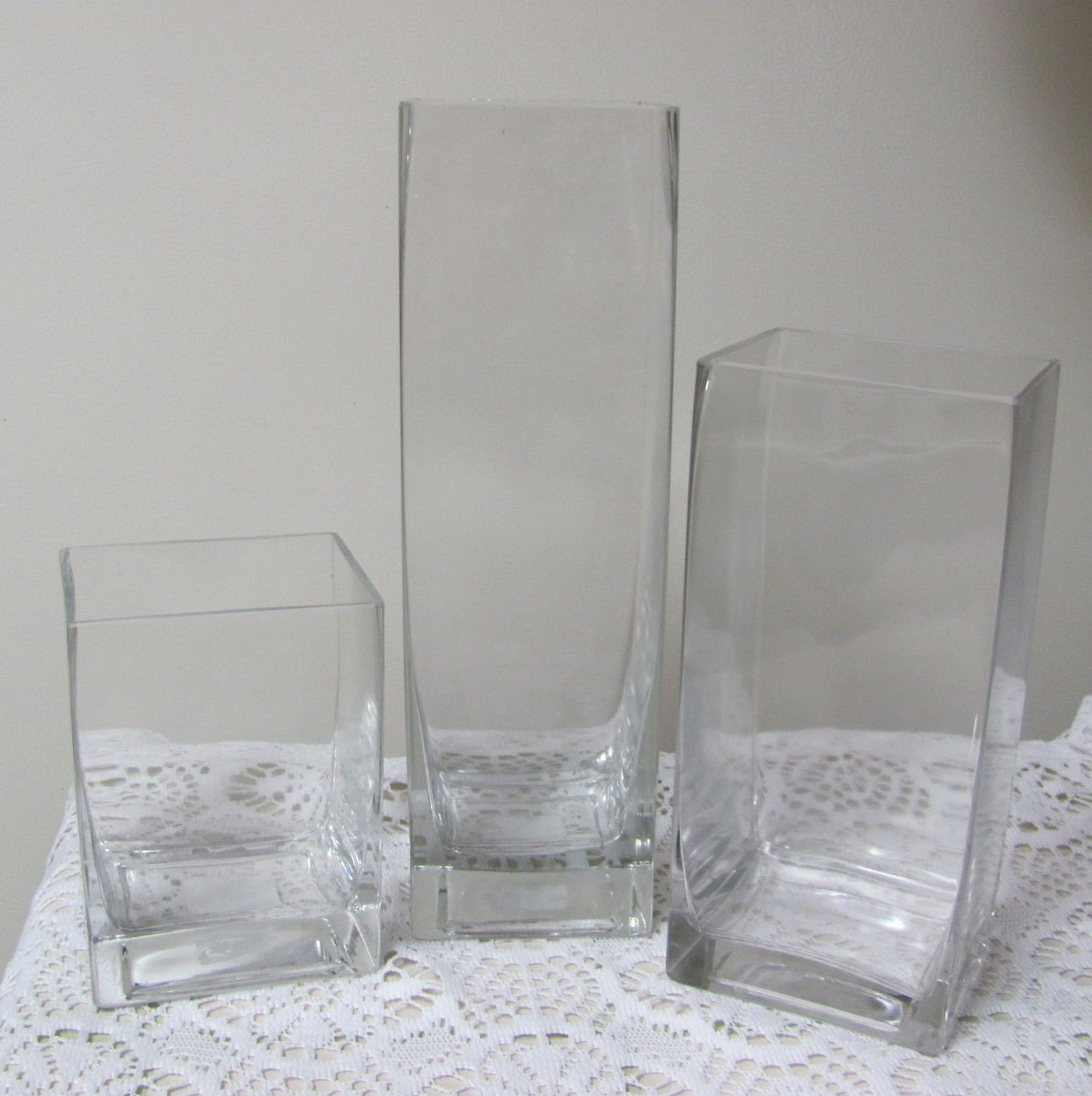 3 glass vases flower vases glass vase reception table vases sold by flowerfilledweddings reviewsmspy