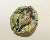 Ceramic seashell pendant charm handmade porcelain for beach jewelry