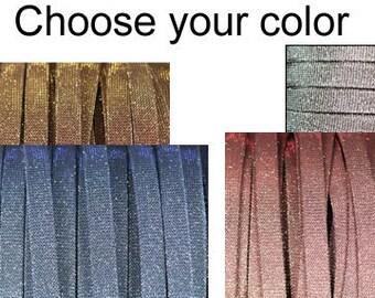 10mm Flat Iridescent Cord per inch