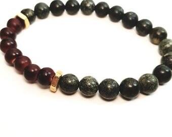 Beaded Bracelet, Mens Beaded Bracelet, Man Bead Jewellry, Father's Day Gift, Man Jewelry, Boyfriend Gift,  wedding anniversary gift for him