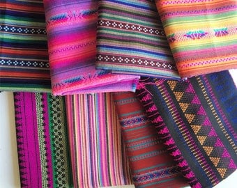 Peruvian Fabric, Andean Fabric, Woven Tribal Fabric Bundle, 8 Yards