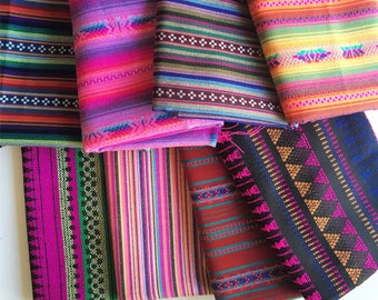 Peruvian Fabric, Andean Fabric, Woven Tribal Fabric Bundle, 8 Yards