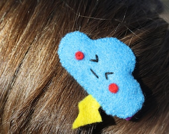 "Felt hair pins, patches and brooches ""Happy Clouds"""