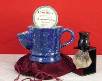 Hiatt House Pottery Shave Mug/Father's Shave Mug/Handpainted Shave Mug/Handmade Shave Mug/Collectible Shave Mug/Gift Shave Mug/
