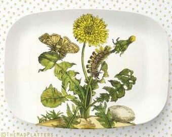 Dandelion melamine platter or plate