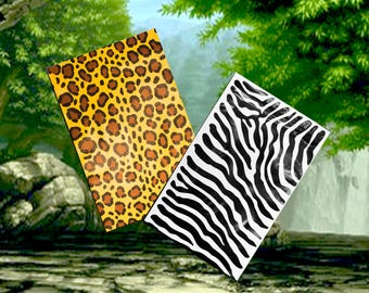 "9x12"" Zebra & Leopard Print -FLAT POLY Mailers, Flat Poly Self Sealing Shipping Bags -USPS Appproved Business Shipping Envelopes (20Pack)"