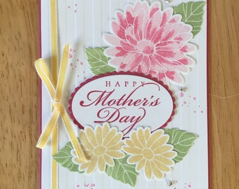 Stampin Up handmade Happy Mother's Day - mother's day with spring flowers