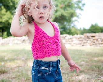 MARINA bikini/ crop top by HPD. Infant - Children's Festival top.  Bohemian. Made in Canada.  Custom Colors & size.  Worldwide shipping.