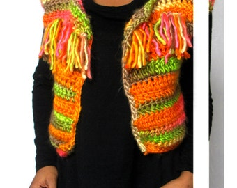 The Duende Crochet Vest Cardigan Crochet Pattern. Instant Download!