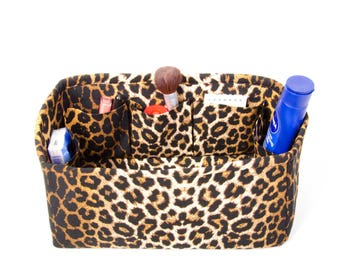 Bag insert organizer for MULBERRY BAGS with only inside pockets ,bag insert organizer,bag shaper,Leopard pattern