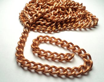 6 ft. - Copper coated steel curb link Chain - ccs1
