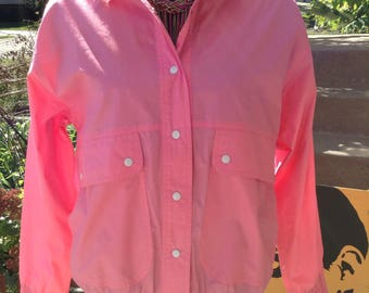 Vintage hipster kitsch 80s Koret pink ladies jacket fits small medium or large perfect for Grease free domestic shipping