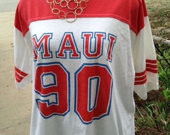 Vintage hipster Maui Hawaii tourist tshirt size xl free domestic shipping