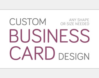 Custom Business Card Design | One OR Two Sided Personalized Card Graphic Design | Foil Spot Gloss Raised Print Basic Or More Styles