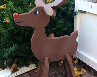 Wooden Reindeer, Stand Up Reindeer Decor