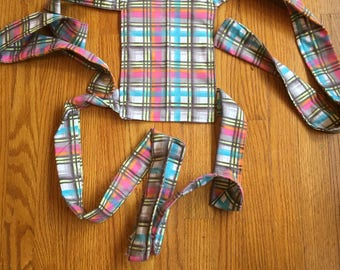 Pre-made Plaid Baby Doll Mei Tai Carrier