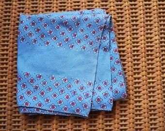Pale Blue Silk Scarf/Handkerchief/Headscarf