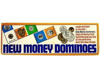 New Money Dominoes Vintage 1970s Retro Game