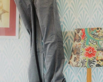 21. Vintage corduroy pants grey