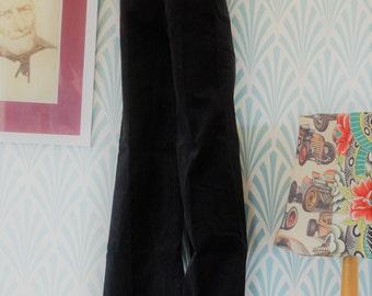 """43. Vintage corduroy André Bercher flared pants, black (W30-L105cm / W11.8-L41.3"""")"""