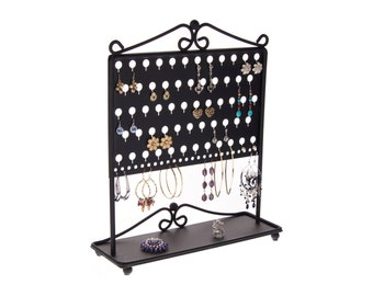 Earring Holder Stand Jewelry Organizer Storage Rack Earring Organizer Display a great way to declutter your jewelry box & drawers