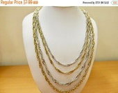 On Sale Vintage Two Tone Multi Chain Necklace Item K # 606