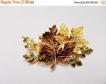 On Sale Vintage Enameled Autumn Leaf Pin Item K # 2383