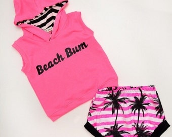Neon Beach Bum Infant/Toddler Set