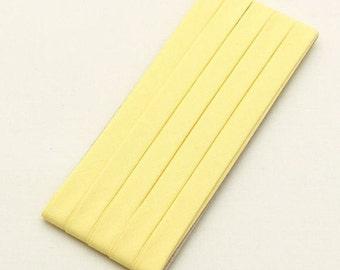 Cotton Candy Series Folded Cotton Bias in Lemon Cream - 3 Yards 92883